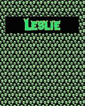 120 Page Handwriting Practice Book with Green Alien Cover Leslie