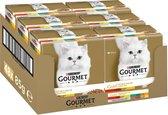 Gourmet Gold Luxe Mix - Vis/Vlees - Kattenvoer - 48 x 85 g