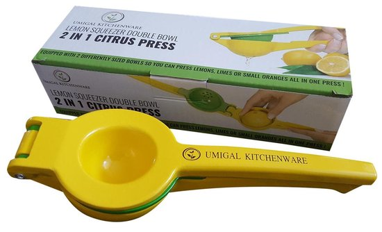2 in 1 Citroenpers en limoenknijper|Juicer | Fruitpers | Sinaasappelpers| Limoenpers