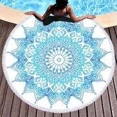 Boho strandlaken Roundie stranddoek Strandkleed Mandala - 155 x 155 cm