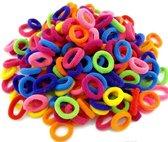 Kleurenmix Haarelastiekjes - 100 stuks - Trendy Kleuren - Gekleurde Haar Elastiekjes Voor Meisjes - Haarbandjes Kinderen - Baby's