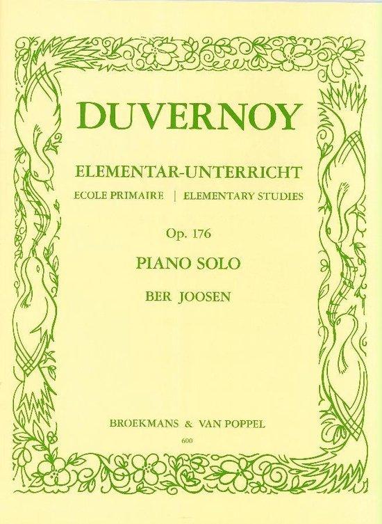Elementar Unterricht / Ecole Primaire / Elementary Studies Opus 176 (Ber Joosen) - J.B. Duvernoy |