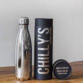 Chilly's Drink- & Thermosfles Zilverkleur 500 ml.