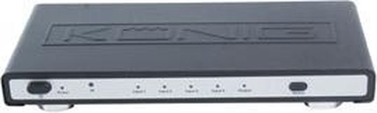 König KN-HDMISW20 - 4 Poorts HDMI Switch - Zwart