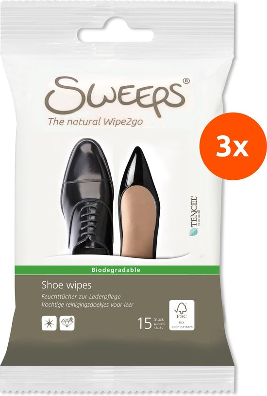 Sweeps Schoenendoekjes (3 reisverpakkingen: 3x15 stuks)