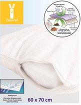 Homéé ® Molton Kussensloop badstof met PU laag waterdicht ademend | set van 2 stuks | Wit - 60x70cm