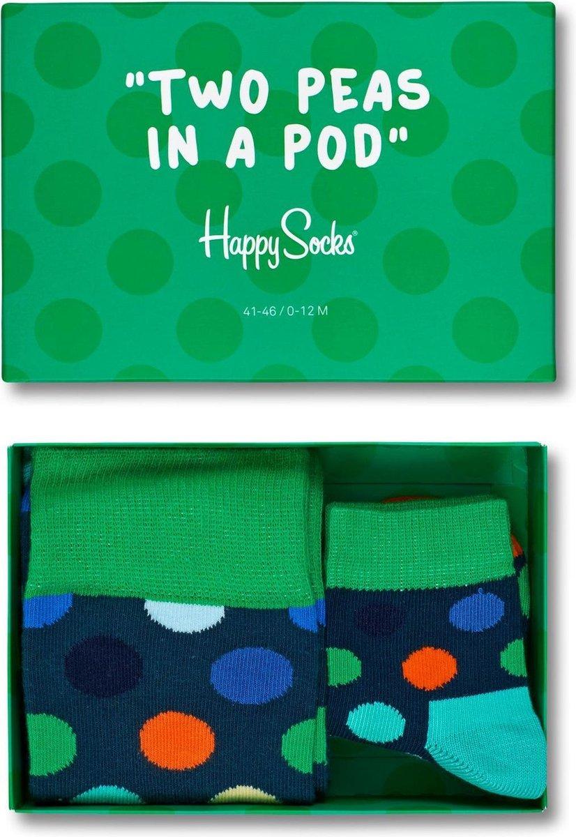 Happy Socks Two Peas in a Pod Giftbox - Maat 36-40/0-12M