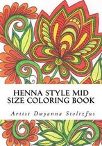 Henna Style Mid Size Coloring Book