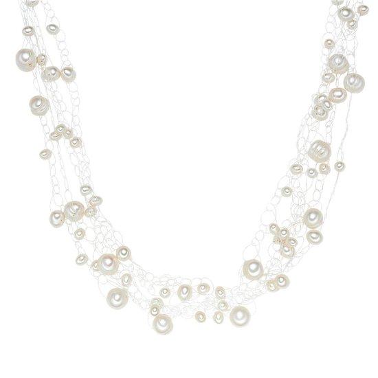 Valero Pearls Parel ketting Sterling zilver Gekweekte zoetwaterparels wit