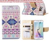 Xssive Hoesje voor Apple iPhone 5C - Book Case Azteken Pink