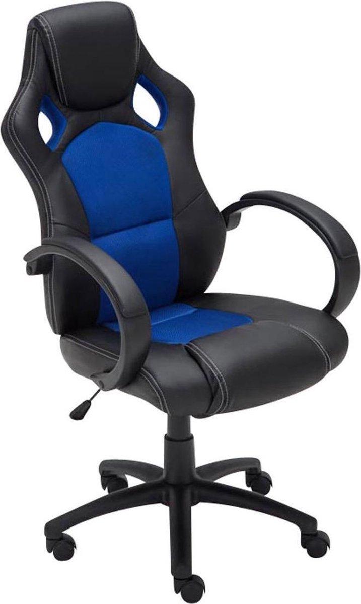 Clp Fire gaming stoel - kunstleer - blauw - in hoogte verstelbaar