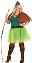 Robin Hood kostuum 4-delig voor dames | XL (42-44) - bos jurk