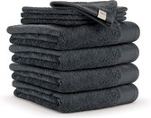 Walra Handdoek - 6 stuks - Antraciet - 50x100 cm - Soft Cotton