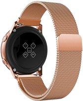 Milanees Bandje voor Samsung Galaxy Watch Active 2 (40 & 44 mm) - iCall - Magneetsluiting - Roségoud