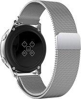 Milanees Bandje voor Samsung Galaxy Watch Active 2 (40 & 44 mm) - iCall - Magneetsluiting - Zilver