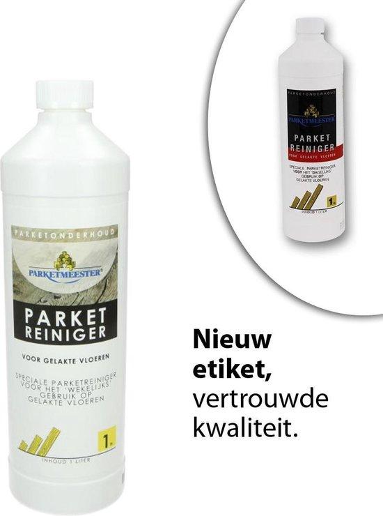 Parketmeester Reiniger lak 1 liter - Gelakte Houten vloer Onderhoud - Parketreiniger - Houtreiniger  - Parket onderhoud - Vloerreiniger producten