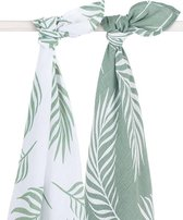 Jollein Nature Hydrofiel multidoek large 115x115cm ash green (2pack)