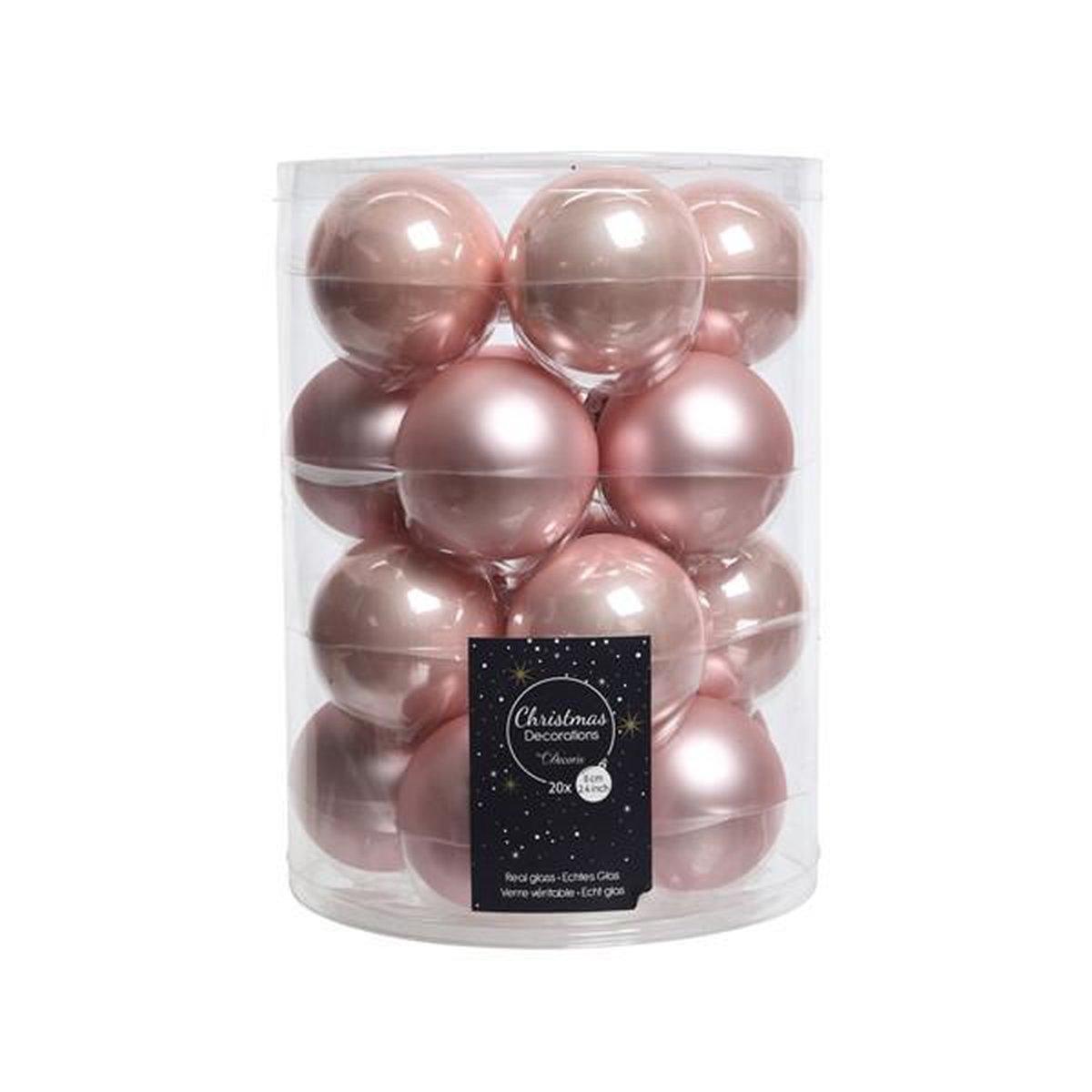 Decoris kerstballen - 20 stuks - 6cm - glas - Decoris