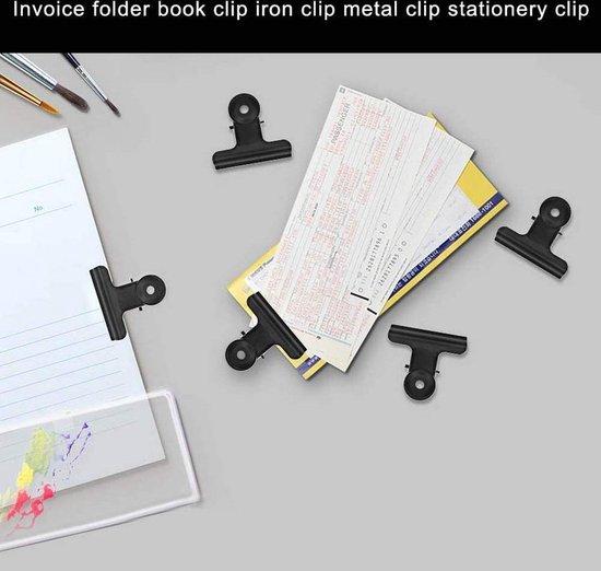 Zwarte Knijpers - Bulldog Clip - Knijpers Metaal - 40 Stuks - 30mm - SEC