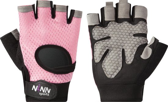 NINN Sports Lady gloves M - Dames fitness handschoenen - Sport handschoenen dames - Grip Gloves - Fitnesshandschoenen Vrouwen
