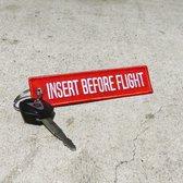 INSTERT BEFORE FLIGT sleutelhanger