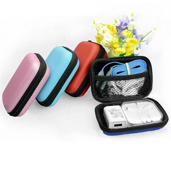 Handige Oortjes Zipper Bag Om Oortjes Te Bewaren - Op Reis - Reizen - Vakantie - Koptelefoon - Headset - Oordoppen - Opbergtas - Rits