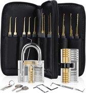 uitgebreide Lockpick set 2.0 met Gratis E-book - lockpicking - lock pick gereedschap tools - lockpicken - voor beginners en professionals - 2020 versie