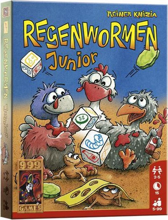 Afbeelding van het spel Regenwormen Junior (A13) - Dobbelspel
