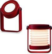 Houten Slaapkamer tafellamp - Rood - Touch - Dimbaar - Tafel lamp