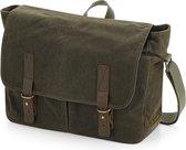 Senvi - Waxed Canvas Messenger Bag - Olive/Groen