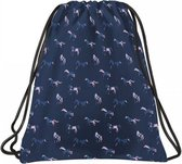 Animal Pictures Gymbag Paardjes - 46 x 33,5 cm - Blauw