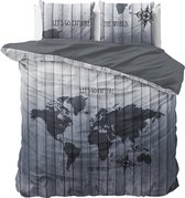 Sleeptime The World - Dekbedovertrekset - Tweepersoons - 200x200/220 + 2 kussenslopen 60x70 - Grijs