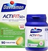 Davitamon Actifit 50+ met Ginseng - Multivitamine voor 50 plussers  - 90 Tabletten - Voedingssupplement