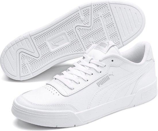 PUMA Caracal Sneakers Heren - Puma White-Puma Silver - Maat 40