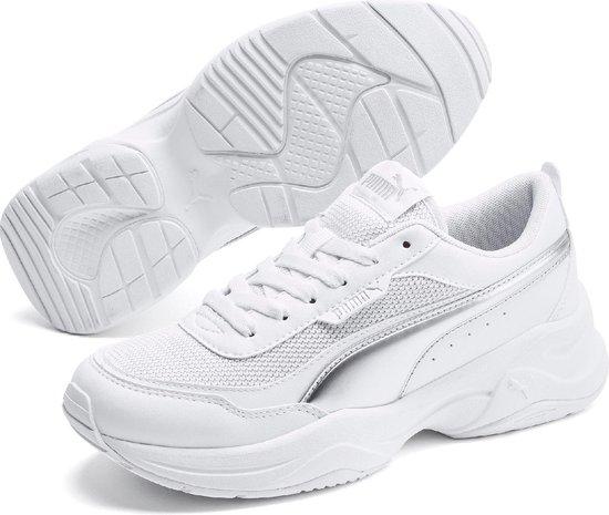 PUMA Cilia Mode Metallic Dames Sneakers - Puma White-Puma Silver-Gray  Violet - Maat 36