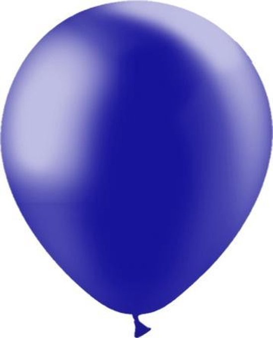 Donkerblauwe Ballonnen Metallic 30cm 10st