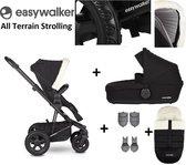 Easywalker Harvey² All Terrain Kinderwagen - Inclusief Reiswieg + Voetenzak + Autostoel-adapter + Hoogte-adapter - Peak Polar Black