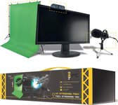 Steelplay Pro HD 4-in-1 Streaming Pack (Webcam / Microphone / Green Screen)
