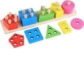 Afbeelding van Houten vormenbord | 5-delig | Montessori speelgoed | Houten speelgoed | Kidzstore.eu speelgoed