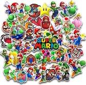 Super Mario stickers pack - Mix van 50 stuks - Gaming - geschikt voor kinderen