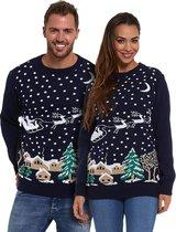 """Foute Kersttrui Dames & Heren - Christmas Sweater """"Kerst in de Sneeuw"""" - Kerst trui Mannen & Vrouwen Maat M"""