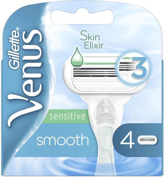 Gillette Venus Scheermesjes - Smooth Sensitive - 4 Stuks