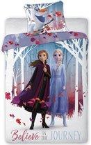Disney Frozen 2 Journey  Dekbedovertrek - Eenpersoons -  140 x 2000 cm - Multi