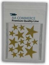 Gouden Sterren Wanddecoratie Muurstickers - Gold Stars Decoratie Stickers - Muurstickers Slaapkamer / Babykamer / Kinderkamer - Set Van 110 Stuks