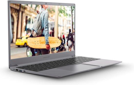 MEDION AKOYA E15403-i3-256F8 Grijs, Titanium Notebook 39,6 cm (15.6'') 1920 x 1080 Pixels Zevende generatie Intel® Core™ i3 8 GB DDR4-SDRAM 256 GB SSD Wi-Fi 5 (802.11ac) Windows 10