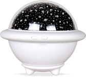 FlinQ Dimbare Draadloze Sterrenprojector -Sterrenhemel projectie - Baby nachtlamp - Kinderlamp - Wit