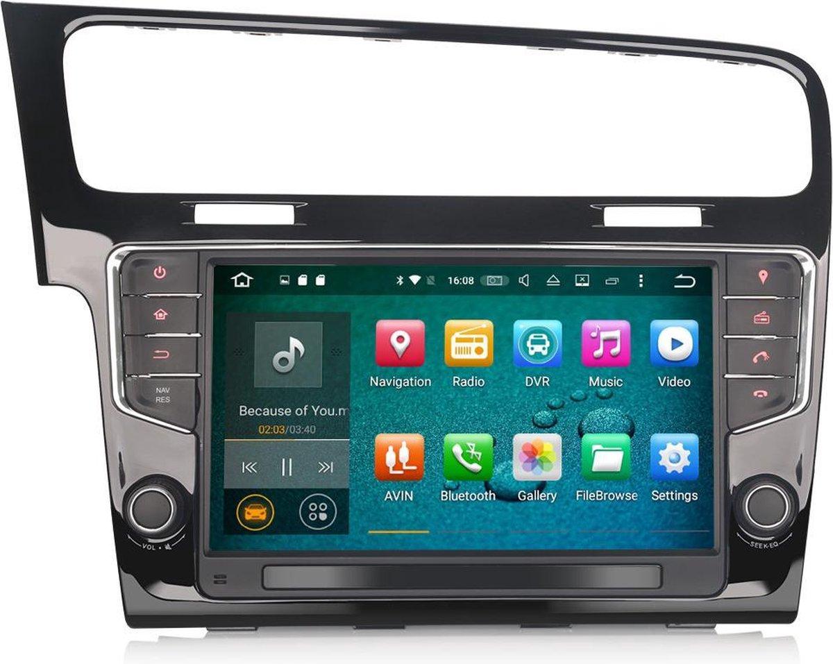Autoradio met CarPlay voor Volkswagen Golf 7   EU Navigatie   Android 10