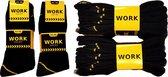 Premium werksokken 10 paar | zwart | Maat 43 - 46