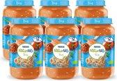 NaturNes® Bio Volkoren Spaghetti, Tomaat, Wortel, Rundvlees 12+ mnd babyvoeding biologisch - 6 potjes