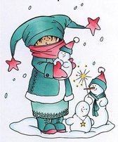 Marianne Design - Hetty Meeuwsen - Clearstamp - Making snowmen - HM9465